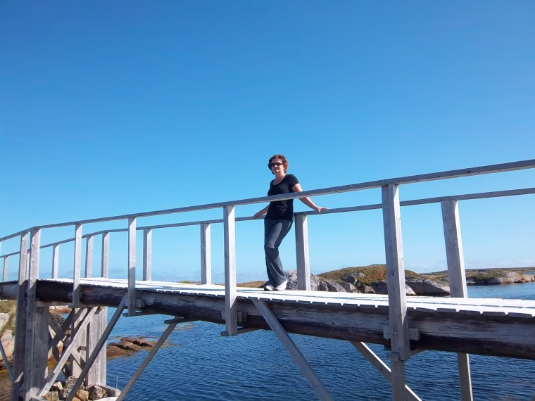 Mr. Blue Sky and me - Bridge right here in Newtown, NL