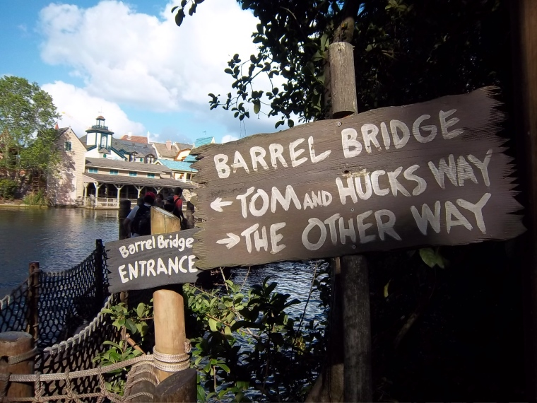 Barrel Bridge at Tom Sawyer's Island - Magic Kingdom, Disney World, Florida