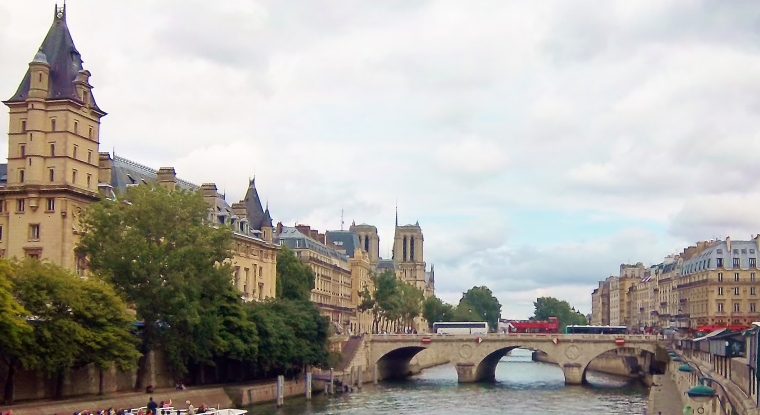One of the thirty seven bridges over the Seine River in Paris, France. Here's a challenge: Can anyone tell me the name of this one?