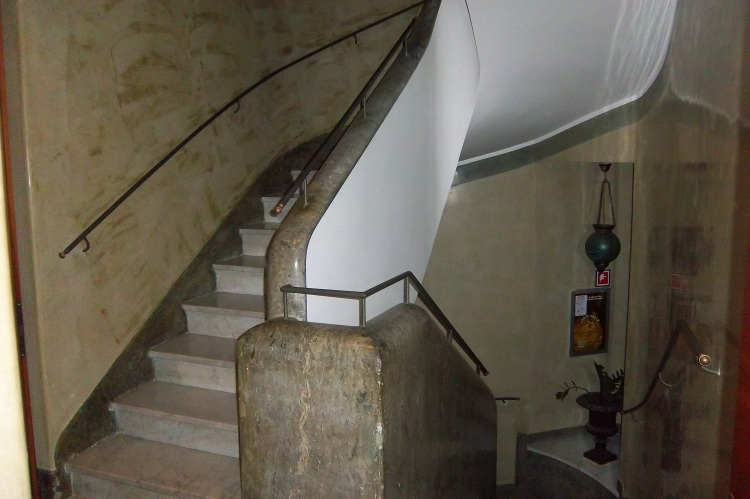 marble staircase in hotel - Rome