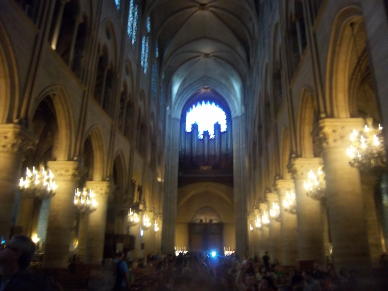 Inside Cathedral - Paris