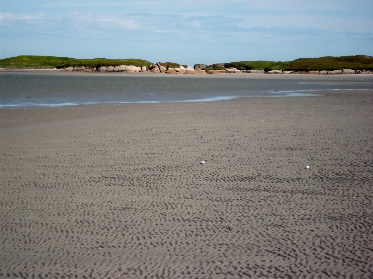 This is the sandbar they were aiming for.