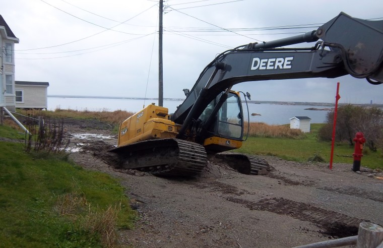 This sinkhole happened by our house a few years ago - Oh Deere!