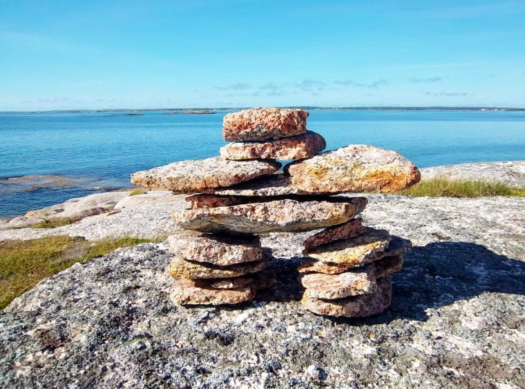 The inukshuk my husband made this summer