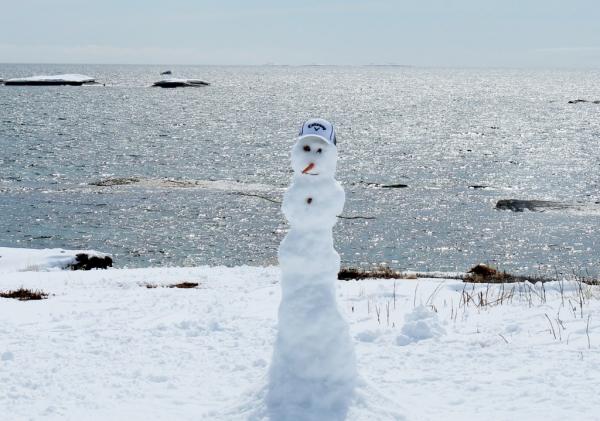 skinniest snowman ever