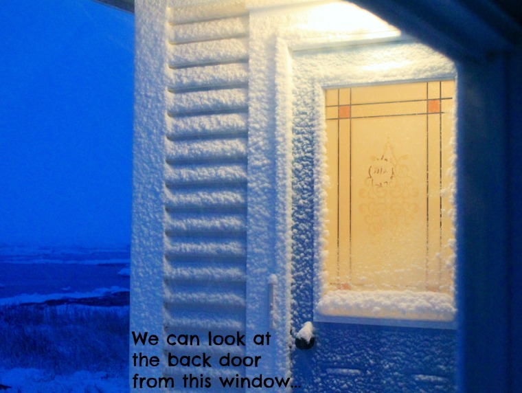 snowy door