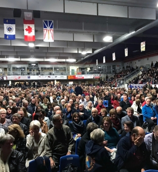 Both shows in Gander on Saturday were sold out.